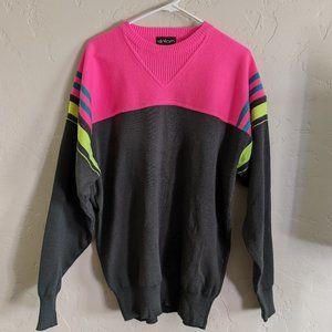 Vintage 80's Slalom Brand Color blocked sweater